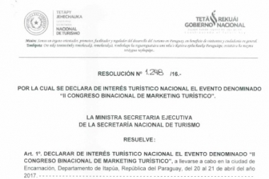 II Congreso Binacional de Marketing es de interés turístico